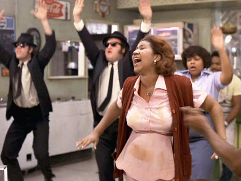 aretha franklin in blues brothers
